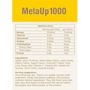 MelaUp 1000 (10 bottles x 50ml) Royal Jelly Boost Rnergy and Nourish Skin