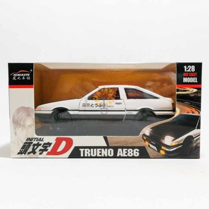 1:28 Initial D - Toyota Trueno AE86 Die-cast Car Model Collection with Sound & Light