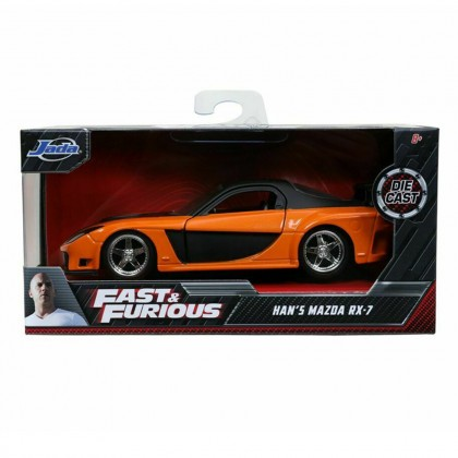 Jada 1:32 Diecast Fast & Furious Han's Mazda RX-7 Car Orange Model Collection