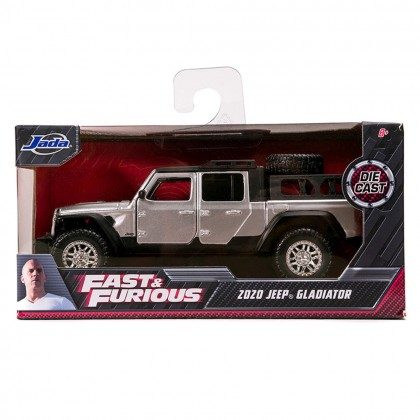 Jada 1:32 Fast & Furious F9 Diecast Tej's 2020 Jeep Gladiator Car Silver Model Collection