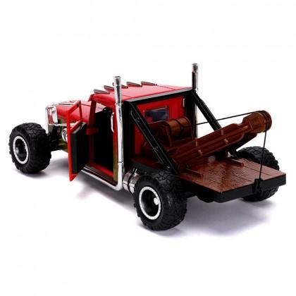 Jada 1:24 Fast & Furious Hobbs & Shaw Die-Cast Hobbs' Custom Peterbilt Truck Car Red Model Collection