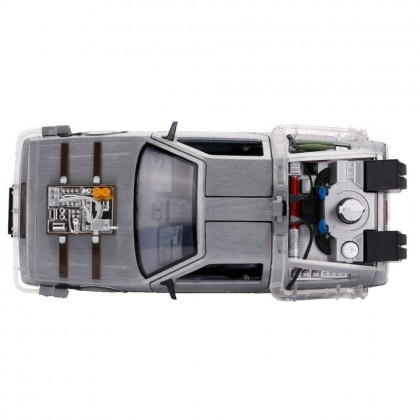Jada 1:24 Die-Cast Back To The Future Part III Time Machine Car Model Collection Light Up Feature