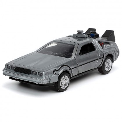 Jada Back To The Future Part I 1:32 Diecast Time Machine Car Silver Model Collection
