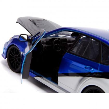 Jada 1:24 Fast & Furious 7 Die-Cast 2012 Brian's Subaru Impreza WRX STi Car Blue Model Collection