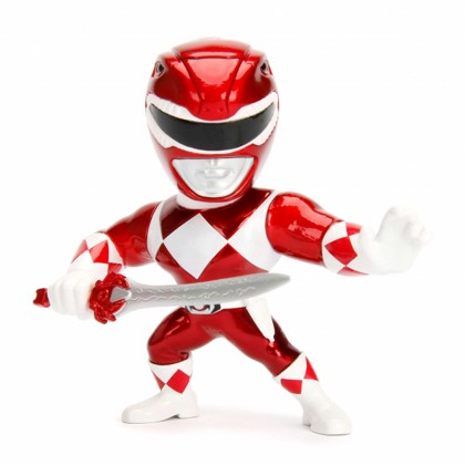 Jada 4 inch Mighty Morphin Power Rangers Red Ranger Metals M400 Metalfigs Model Collection Toy