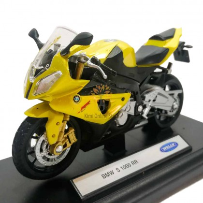 Welly 1:18 Die-cast BMW S1000RR Motorcycle Model with Box Collection Christmas New Gift Gold