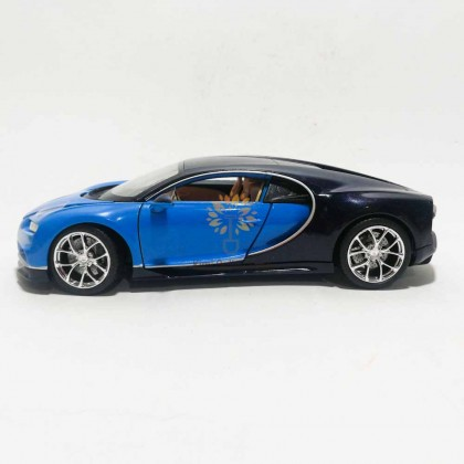 Welly 1:24 Die-cast Bugatti Chiron Car Model Blue with Box Collection Christmas New Gift