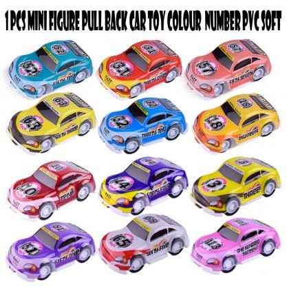 1 pcs Mini Figure Car Truck Toy Pull Back Colour Number Color Random PVC Soft Plastic Model New Gift Children