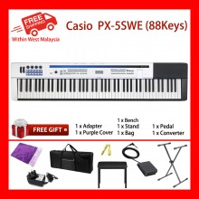 88 Key Casio PX-5SWE Privia PRO Tri-sensor Scaled Hammer Action IIMaximum Polyphony 256 Notes