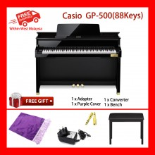 88 Key Casio GP-500 BK Celviano Grand Piano Bench 256 Note Polyphony 6 Speakers 60 Songs MIDI USB