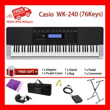 76 Key Casio WK-240 Standard Keyboard Piano 600 Tones 152 Songs New Fashion Adult