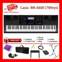 76 Key WK-6600 Casio Electronic High Grade Keyboard Piano Organ 670 Tones 200 Rhythms 5 Demo Tone Speed Dial Tone Editor rhythm Editor
