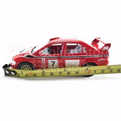 Kinsmart Die-cast car 1:36 Mitsubishi Lancer Evolution VII WRC Red Model Friction Toys with Box Collection Christmas Gift