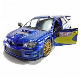 Kinsmart diecast car 1:36 Subaru Impreza WRC 2007 Blue model friction toys with box collection christmas gift