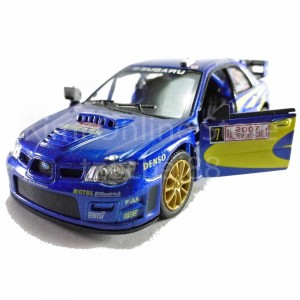 Kinsmart diecast car 1:36 Subaru Impreza WRC 2007 Blue model friction toys with box collection christmas gift