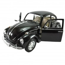 Welly 1:24 Die-Cast Volkswagen Beetle (Hard-Top) Car Black Color Model Collection