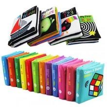 Lakarose 12 Cloth Book Set Baby Infant 0-3 Early Education Toy Washable Free 4