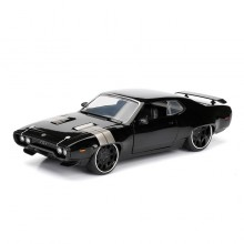 Jada Fast & Furious 8 1:24 DIECAST Dom's Plymouth GTX Car Black Model