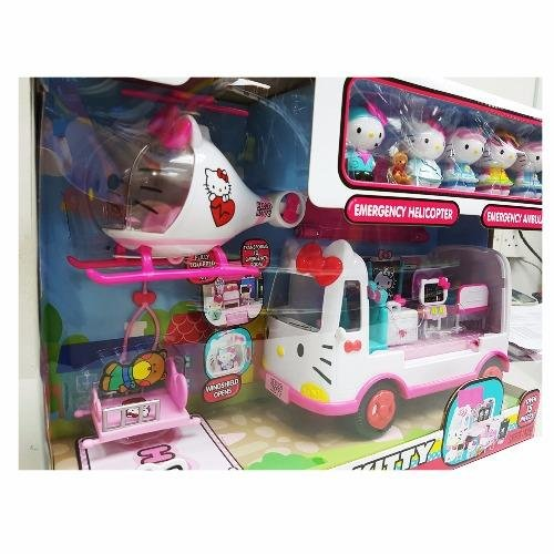 Jada Toys Hello Kitty Rescus Set Die-cast Genuine License Product White Model Collection Christmas New Gift