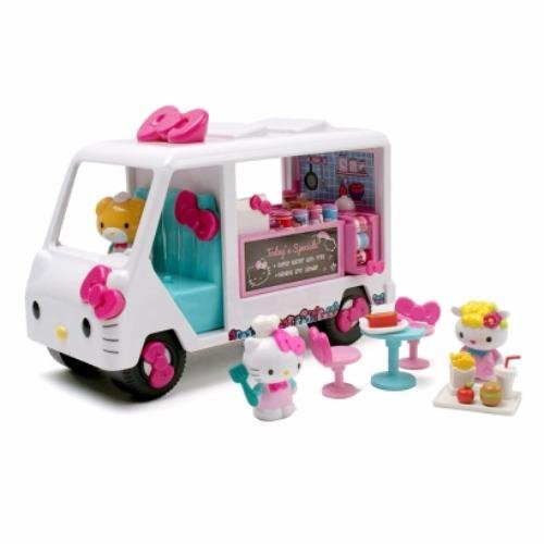 0103432d9 Jada Toys Hello Kitty Food Truck Die-cast Genuine License Product White  Model Collection Christmas New Gift