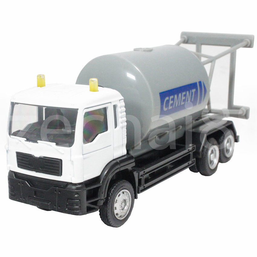 Affluent Town 1:64 Die-Cast Cement Truck White Collection Model New Gift