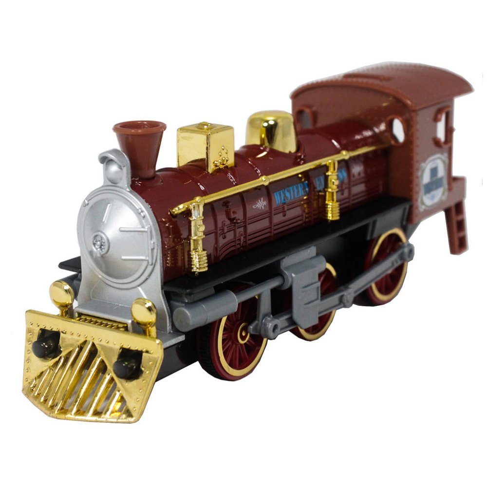 Welly 7 inch Die-Cast Super Locomotive Train Brown Model Collection