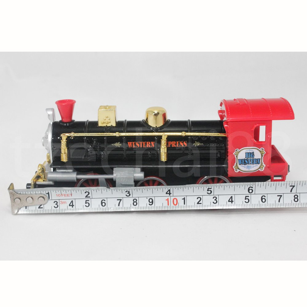 Welly 7 inch Die-Cast Super Locomotive Train Black Model Collection