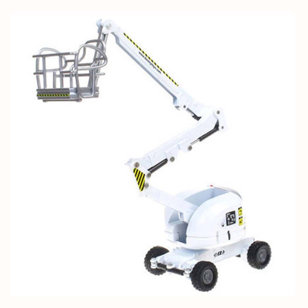 Kaidiwei 1:87 Die Cast Aerial Platform Truck Metal Model (White)