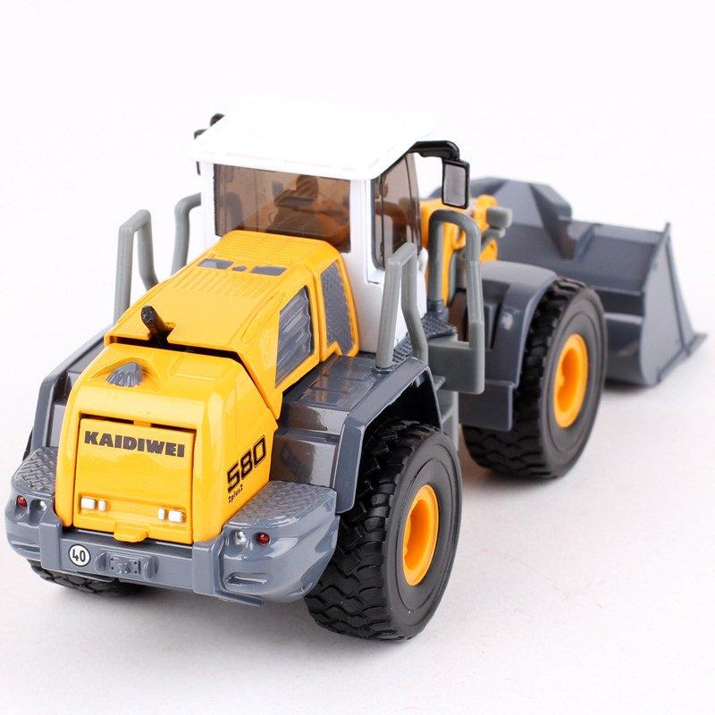 Kaidiwei 1:50 Die Cast Four Wheel Loader Truck Yellow Color Metal Model