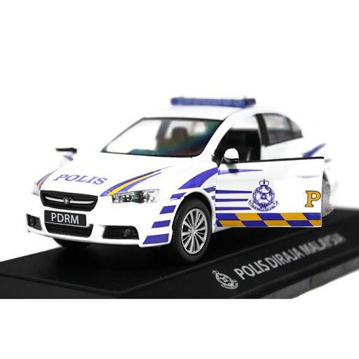 1:32 scale Proton Inspira Polis Police Diraja Malaysia Pdrm 199 Diecast Car (White)