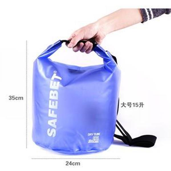 Safebet Waterproof Shoulder dry bag pouch 15L (Light Blue)