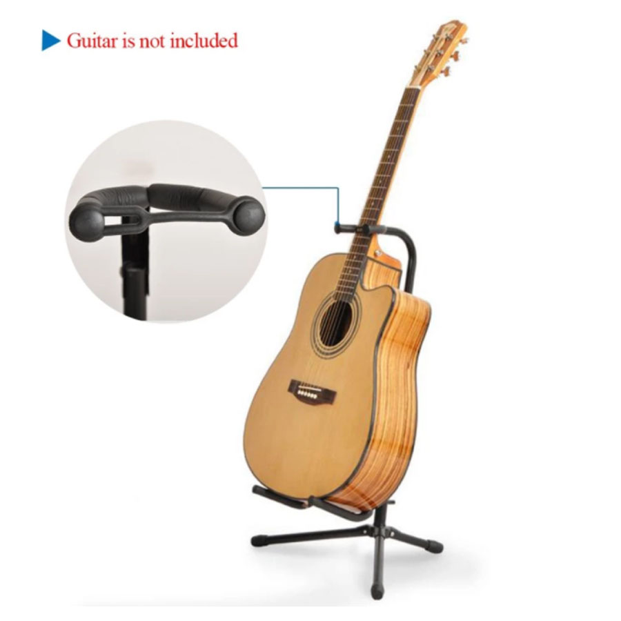 Adjustable Folding Guitar Stand Holder Tubular Acoustic Electric Bass ukulele