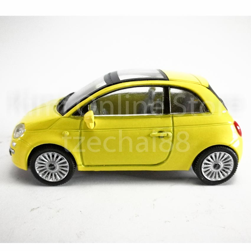 Newray Die-cast Fiat 500 Car 1:43 Yellow Color Model Collection Gift New Toys