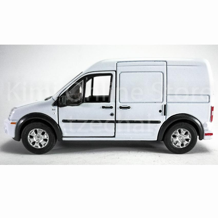 10 Ford Transit 15str Minibus: Welly 1:34-1:39 Die-cast Ford Transit Connect Van White