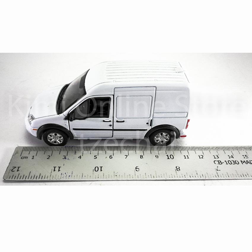 Welly 1:34-1:39 Die-cast Ford Transit Connect Van White Color Model Collection