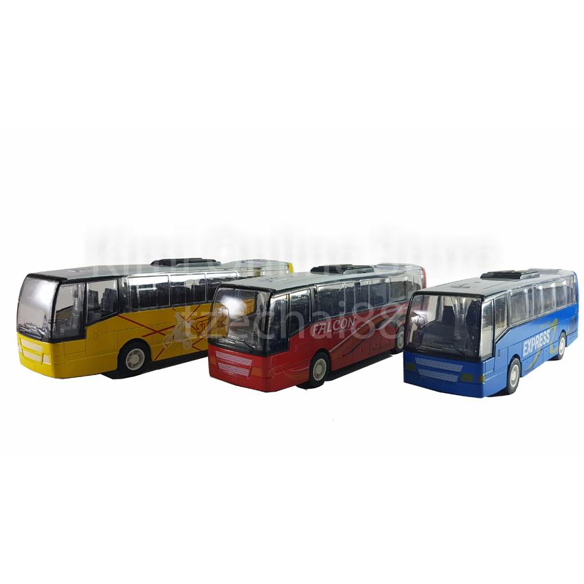 Die-cast Falcon Super Power Bus 6.5 Inch Red Sound Music Light Model
