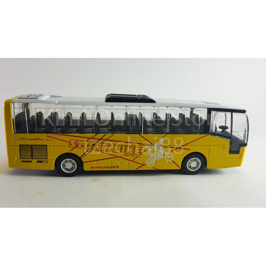 Cool Bus: Liangang Toys Die-cast Stunt Bike Super Cool Bus 6.5 Inch
