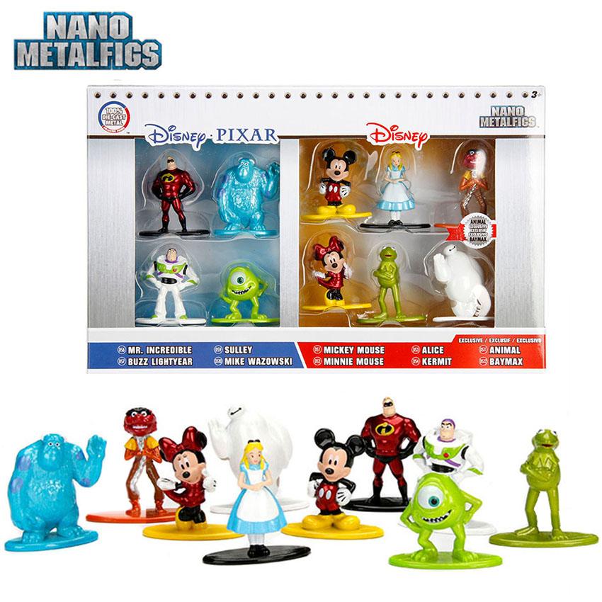Nano Metalfigs Disney Pixar 10 Pack Mickey Minnie Lightyear Incredible Baymax