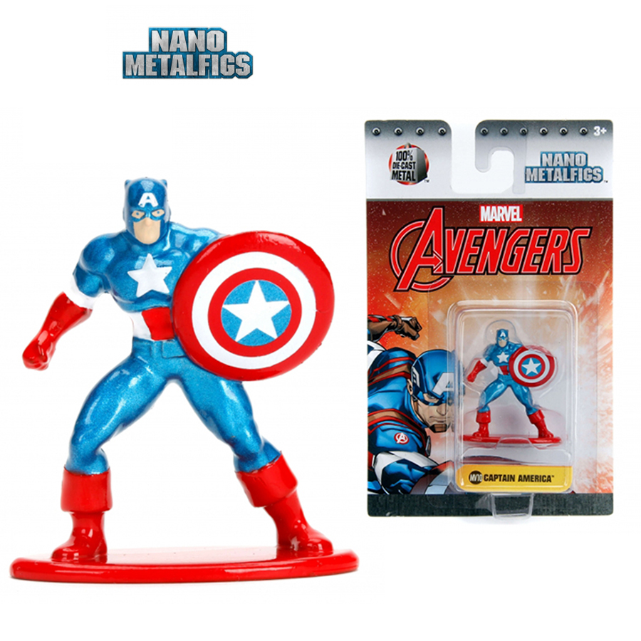 JADA 1.65'' Nano Metalfigs Marvel Avengers Captain America Action Diecast Figure