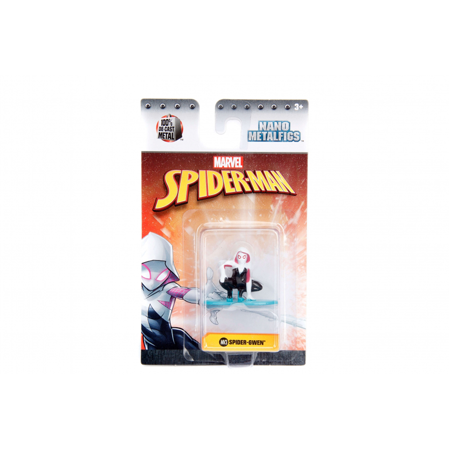 JADA 1.65'' Nano Metalfigs Marvel Spider-Man Gwen Action Figure Diecast Metal