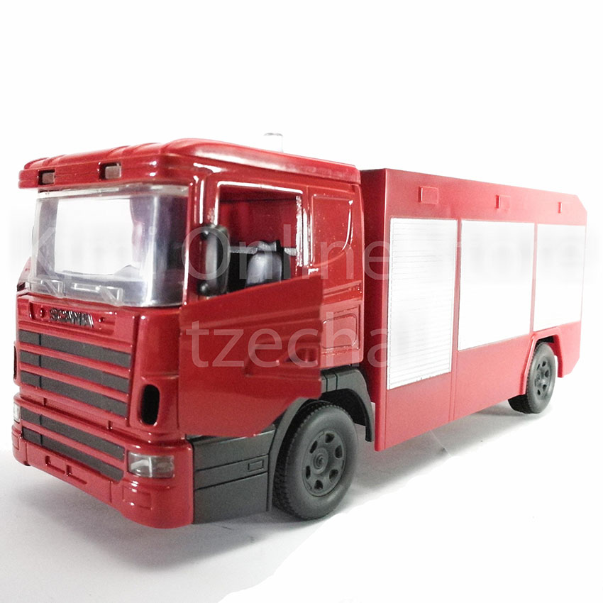Newray 1:32 Die-cast Scania R124 / 400 Long Hauler Fire Truck Red Collection New