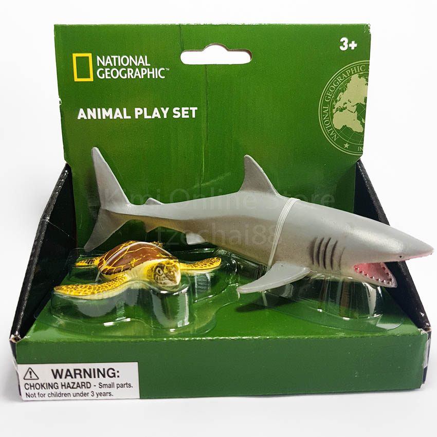 Shark Toy Set : National geographic wenno eco non toxic animal play