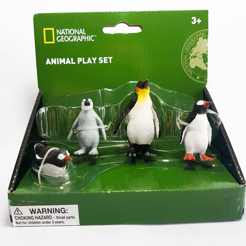 National Geographic Sea Life Animal Penguin Play Set Genuine Authentic Genuine