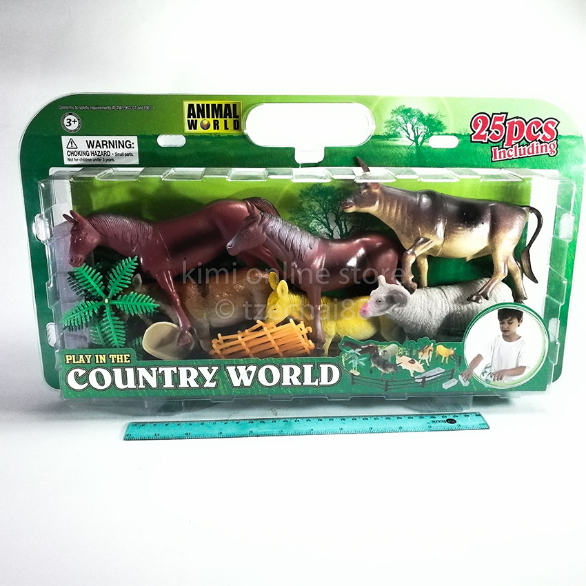 Bull Bighorn sheep 25 pcs Animal Contry World Box Figurines Genuine Authentic