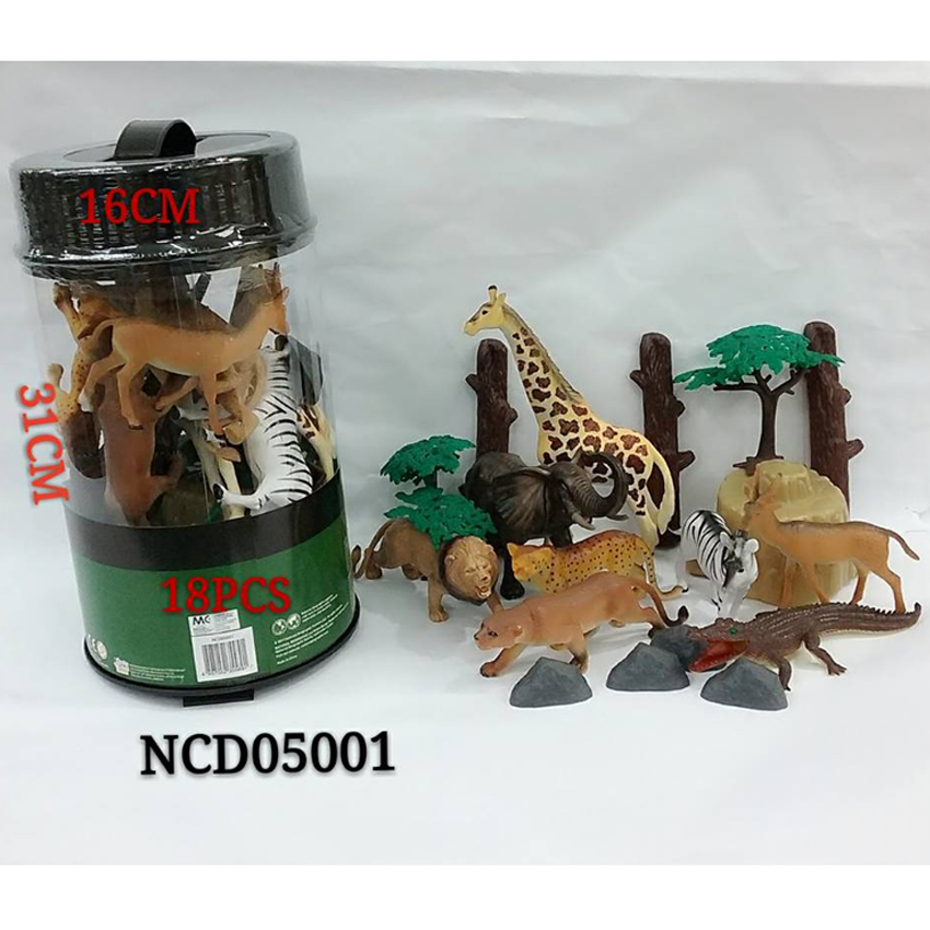 National Geographic 18pcs Animal Figurines Cylinder Green Genuine Authentic Gift