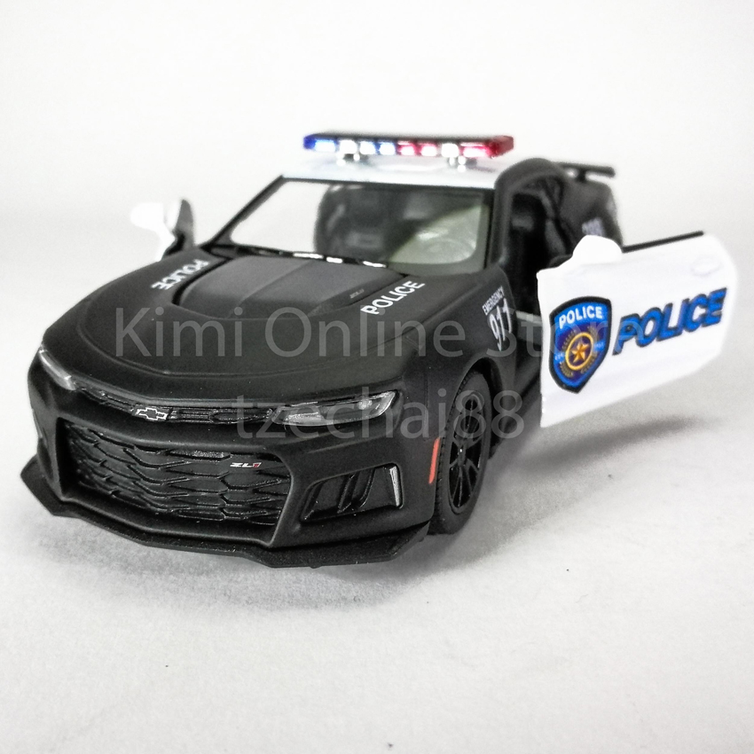 Kinsmart 1:38 Die-cast 2017 Camaro ZL1 Police Car Metal Model Collection New