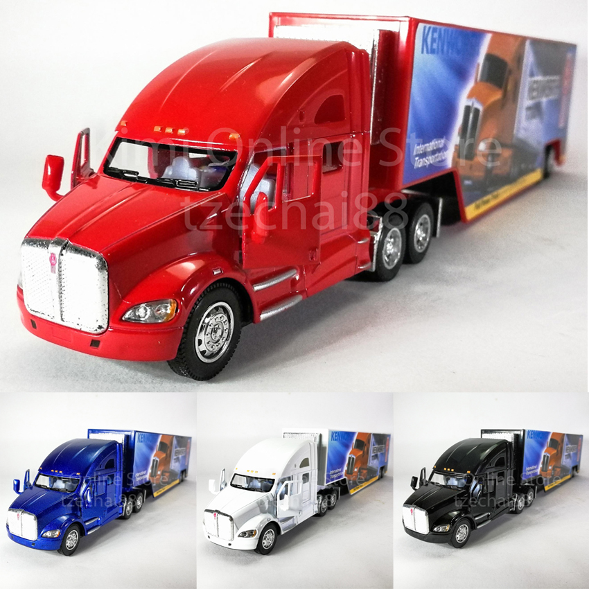 Kinsmart 1:68 Die-cast Kenworth T700 Container Truck Metal Model Collection