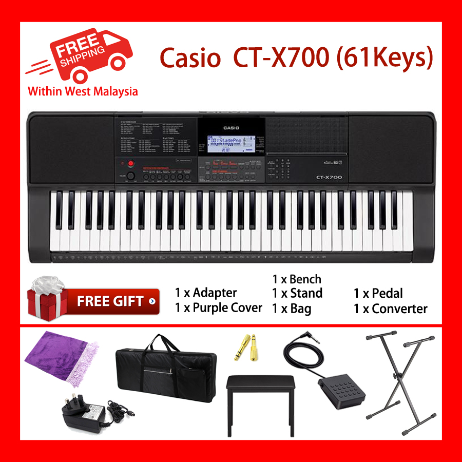 61 Keys Casio CT-X700 Digital Electronic Keyboard Piano Organ 600 WORLD TONES