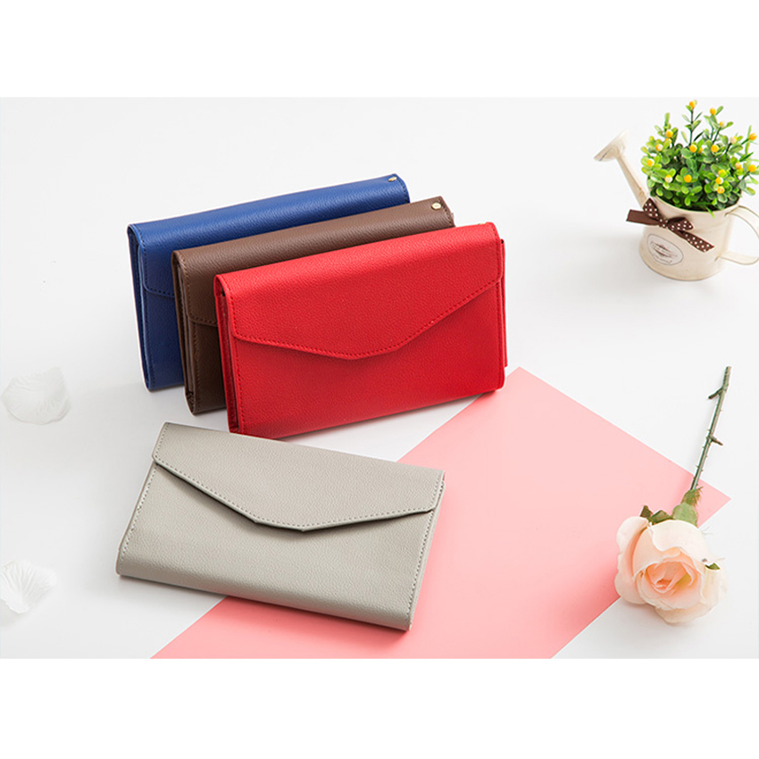 Korean Donbook Woman Wallet Purse Card Leather Multifunction