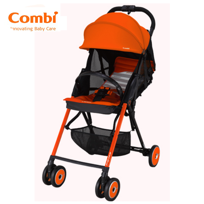 Combi Stroller F2 Plus AF Baby Super Lightweight Orange 165 Degrees Reclining